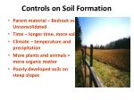 controls on soil formation