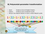 b polynomial parameter transformation