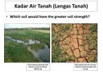 kadar air tanah lengas tanah