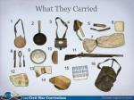 what they carried