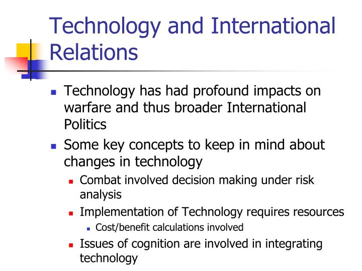 technology and international relations n.