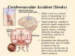 cerebrovascular accident stroke