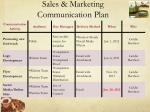 sales marketing communication plan