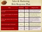sales marketing risk response plan
