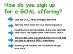 how do you sign up for a goal offering