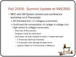 fall 2009 summit update at macrao