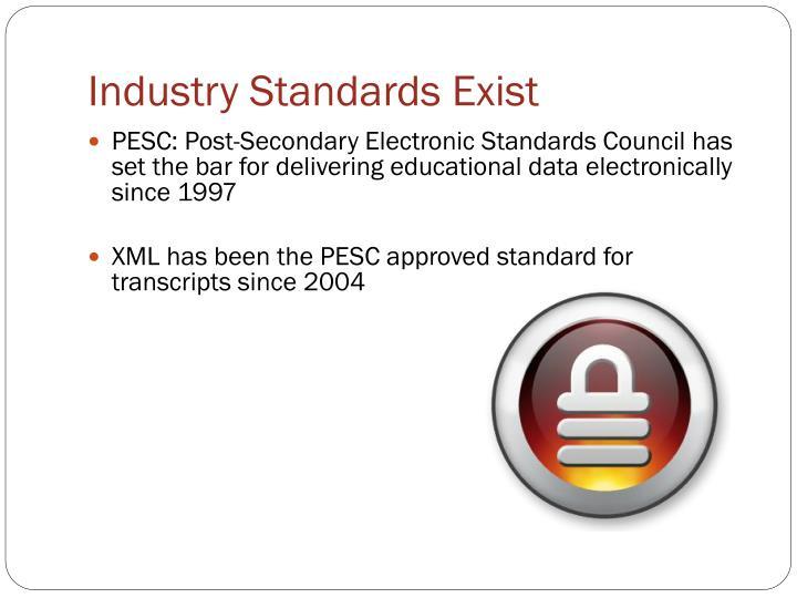 Industry Standards Exist