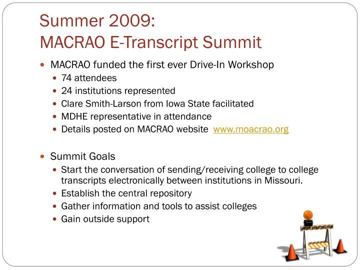 Summer 2009: