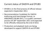 current status of daisy4 and epub3