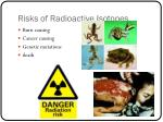 risks of radioactive isotopes