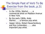 the simple past of verb to be exercise from the book p 311