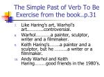 the simple past of verb to be exercise from the book p 312