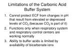 limitations of the carbonic acid buffer system