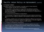 pacific union policy on harassment cont d2