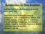 submission to one another11