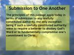 submission to one another34