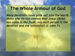 the whole armour of god14