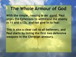the whole armour of god34
