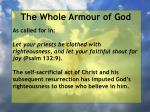 the whole armour of god38