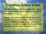 the whole armour of god49