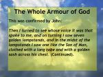 the whole armour of god55