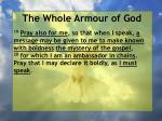 the whole armour of god66