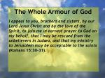 the whole armour of god68