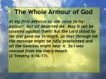 the whole armour of god70
