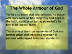 the whole armour of god72