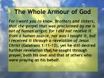 the whole armour of god74