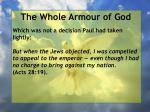 the whole armour of god78