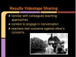 results videotape sharing