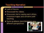teaching narrative
