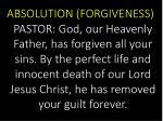 absolution forgiveness