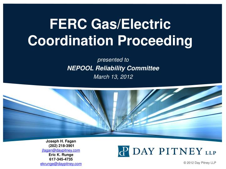 Presented to nepool reliability committee march 13 2012