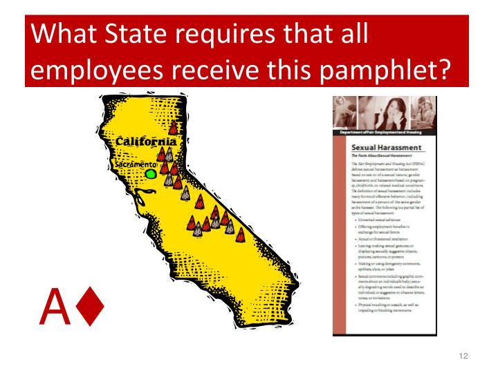 What State requires that all employees receive this pamphlet?