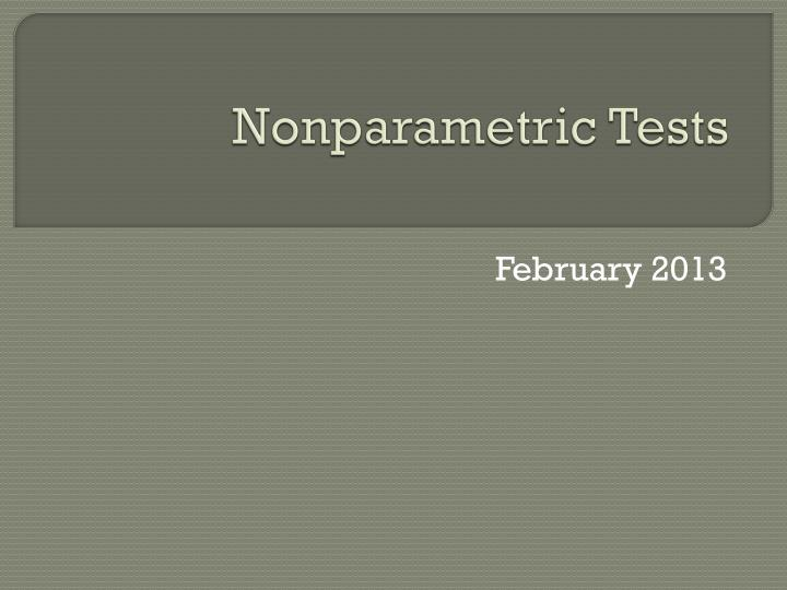 nonparametric tests n.