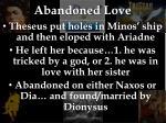 abandoned love
