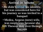 arrival in athens