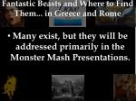 fantastic beasts and where to find them in greece and rome