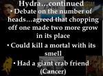 hydra continued
