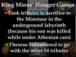 king minos hunger games