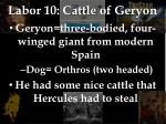 labor 10 cattle of geryon