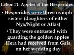 labor 11 apples of the hesperides