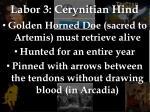 labor 3 cerynitian hind