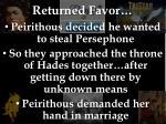returned favor
