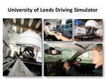 university of leeds driving simulator