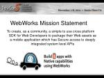 webworks mission statement