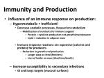 immunity and production