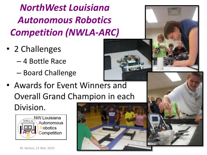 northwest louisiana autonomous robotics competition nwla arc n.